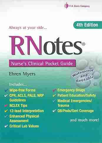 Rnotes By Myers, Ehren